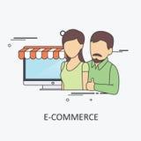 Negócio do comércio eletrónico Imagem de Stock