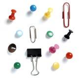 Negócio do escritório da coleção dos Pushpins Imagens de Stock Royalty Free