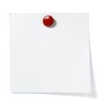 Negócio do escritório do lembrete do papel de nota Fotos de Stock