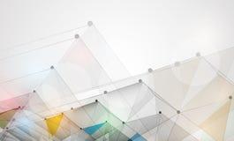 Negócio do fundo da tecnologia & sentido abstratos do desenvolvimento ilustração stock