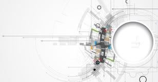 Negócio do fundo da tecnologia & sentido abstratos do desenvolvimento Foto de Stock Royalty Free
