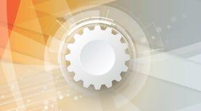 Negócio do fundo da tecnologia & sentido abstratos do desenvolvimento Fotos de Stock