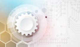 Negócio do fundo da tecnologia & sentido abstratos do desenvolvimento Imagens de Stock