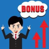 Negócio do homem do BÔNUS Imagens de Stock