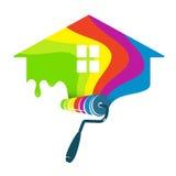 Negócio do projeto da casa da pintura Fotos de Stock Royalty Free