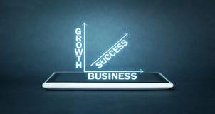 Negócio do sucesso do crescimento Imagem de Stock Royalty Free