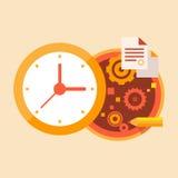 Negócio do tempo e trabalho de escritório Ilustração Royalty Free