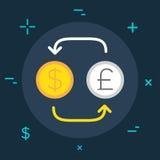 Negócio do vetor ou estilo mínimo liso da categoria da finança colorido Imagem de Stock