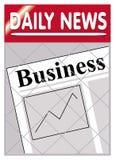 Negócio dos jornais Foto de Stock