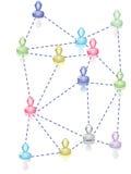 Negócio dos povos da comunidade ilustração do vetor