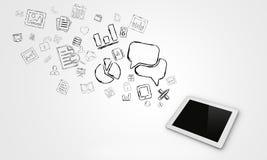 Negócio dos telefones celulares Imagens de Stock