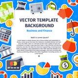 Negócio e ícone do escritório ajustado no plano Fotografia de Stock