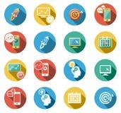 Negócio e ícones lisos Startup ajustados Foto de Stock