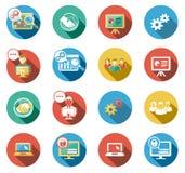 Negócio e ícones lisos Startup ajustados Fotos de Stock