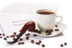 Negócio e café Foto de Stock
