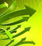 Negócio e conceito financeiro do crescimento ilustração stock