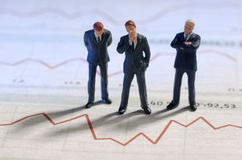 Negócio e cotação das ações Foto de Stock