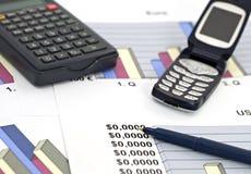 Negócio e dof financiar-raso Imagens de Stock Royalty Free