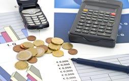 Negócio e dof financiar-raso Foto de Stock