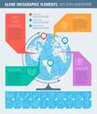 Negócio e escola Infographic Fotografia de Stock