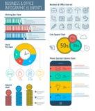 Negócio e escritório Infographic Fotografia de Stock Royalty Free