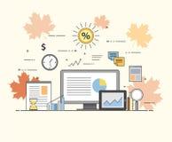 Negócio e finança Tecnologias de Digitas Cartas e relatórios Foto de Stock