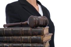 Negócio e justiça imagens de stock