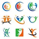 Negócio e logotipo de consulta para o logotipo do conceito da sabedoria Foto de Stock