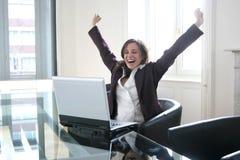 negócio e PC Fotografia de Stock Royalty Free