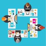 Negócio e projeto conceptual do vetor do escritório Fotografia de Stock