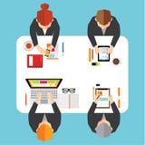 Negócio e projeto conceptual do vetor do escritório Imagens de Stock