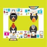 Negócio e projeto do vetor do escritório Imagem de Stock