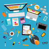 Negócio e projeto do vetor do escritório Imagens de Stock