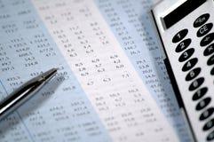 Negócio e relatório financeiro Foto de Stock Royalty Free