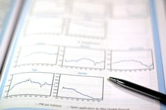 Negócio e relatório financeiro Imagens de Stock