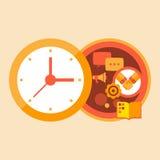Negócio e reuniões do tempo com sócios Ilustração Royalty Free