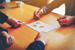 Negócio e reuniões e unidade do trabalho Para trabalhar eficazmente o teamwo fotografia de stock