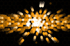 Negócio e tecnologia da informação abstratos do hexágono do ponto preto Imagem de Stock Royalty Free