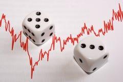 Negócio e tecnologia no mercado Imagens de Stock Royalty Free