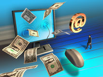 Negócio em linha Imagens de Stock
