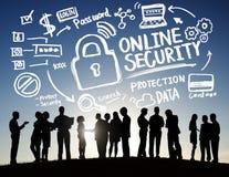 Negócio em linha Communicatio da segurança do Internet da proteção de segurança Fotos de Stock