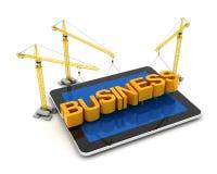 Negócio em linha de construção ilustração stock