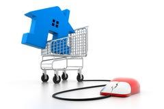 Negócio em linha dos bens imobiliários ilustração stock