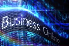 Negócio em linha na tela digital Foto de Stock Royalty Free