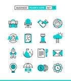 Negócio, empreendimento, trabalhos de equipa, objetivos e mais Planície e ilustração stock