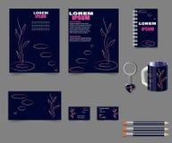 Negócio-estilo-para-seu-projeto-projeto-escuro-azul ilustração stock