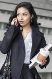 Negócio exótico do estudante de jovem mulher da beleza Fotografia de Stock Royalty Free