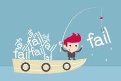Negócio da falha ilustração stock