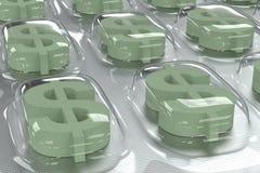 Negócio farmacêutico - símbolo do dólar Fotografia de Stock