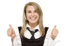 Negócio feliz Fotografia de Stock Royalty Free
